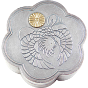 Sterling Silver and 18k Gold Phoenix Trinket Box