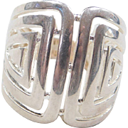 Vintage Sterling Silver Geometric Ring