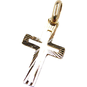 Vintage 14k Gold Small Cross Charm