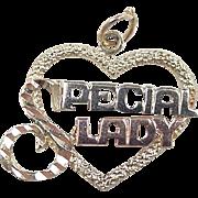 Vintage 14k Gold Tri-Color Special Lady Charm