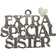 Vintage 14k Gold Extra Special Sister Charm
