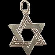 Vintage 14k Gold Star of David Jewish Charm