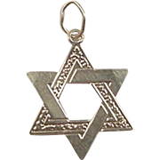 Vintage 14k Gold Star of David Jewish Charm