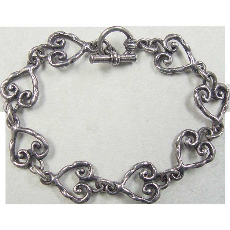 Vintage Sterling Silver Heart 46