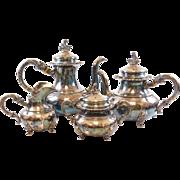 Sterling Silver ALT-Heidelberg 4 Piece Tea Set (CP, TP, Creamer, Sugar)
