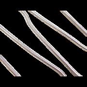 "Vintage Sterling Silver Snake Chain ~ 18 3/4"" ~ 13.8 Grams"