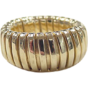Vintage 14k Gold Wide Stretch Ring