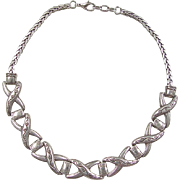 """Vintage Sterling Silver Necklace 15 5/8"""""""