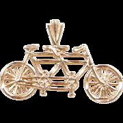 Vintage 14k Gold Tandem Bicycle Charm