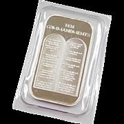 One Ounce .999 Fine Silver Ten Commandments Religious Bar