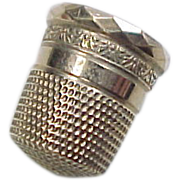 Gold Sewing Thimble 10k Gold Size 7 Goldsmith, Stern & Company