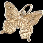 Vintage 14k Gold Butterfly Charm