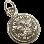 Vintage 22k Gold Prize Jewelry Modern Flower Charm