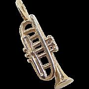 Vintage 14k Gold Trumpet Charm