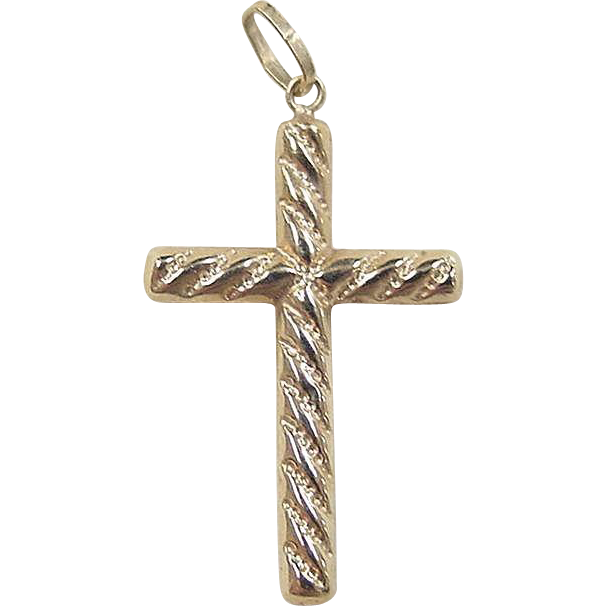 vintage 10k gold twisted cross pendant from arnoldjewelers