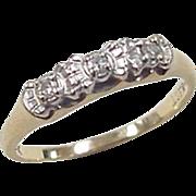 Vintage 14k Gold Two-Tone .06 ctw Diamond Ring