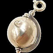 Vintage 14k Gold Two-Tone Globe Charm