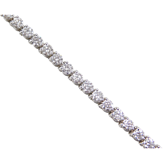 10.00 ctw Diamond Tennis Bracelet 14k White Gold ~ 7""