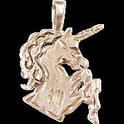 Vintage 14k Gold Unicorn Charm / Pendant