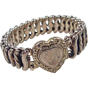 Victorian Heart Expansion Bracelet ~ 12k Gold Filled