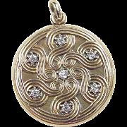 Victorian 14k Gold .36 ctw Diamond Locket