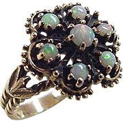 Victorian Revival 10k Gold Opal Ring