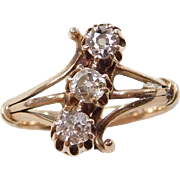 Victorian 14k Gold .50 ctw Diamond Ring