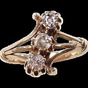 Victorian 14k Gold .50 ctw Diamond Ring