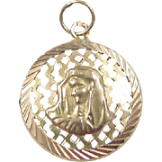 Vintage 14k Gold Virgin Mary Charm