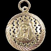 Vintage 14k Gold Virgin Mary Charm