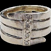 Vintage 14k White Gold .04 ctw Diamond Ring