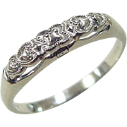 Vintage 14k White Gold Ring