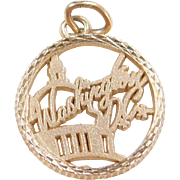 Vintage 14k Gold Washington DC Charm