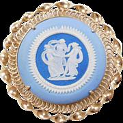 Vintage 14k Gold England Wedgwood Dancing Women Pin / Pendant