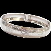 "Vintage 14k White Gold Bangle Bracelet ~ 7 1/4"""