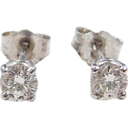 .46 ctw Diamond Stud Earrings 14k White Gold
