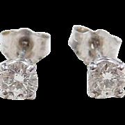 .46 ctw Diamond Stud Earrings 14k White Gold