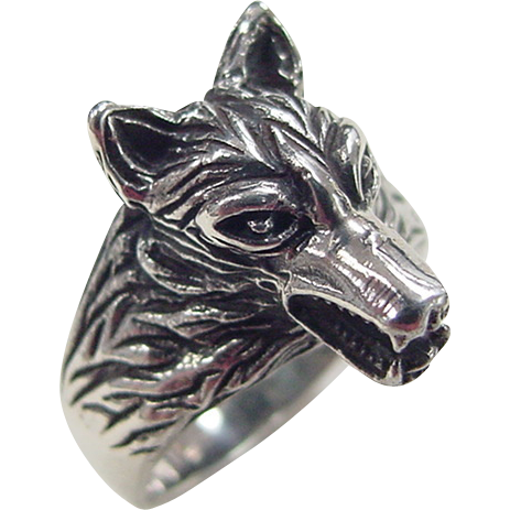 vintage sterling silver wolf ring from arnoldjewelers on