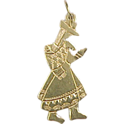 Vintage 14k Gold Women Charm ~ Ethnic