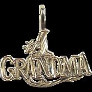 Vintage 14k Gold #1 Grandma Charm