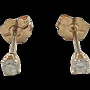 Vintage 14k Gold .08 ctw Diamond Stud Earrings