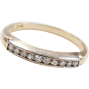 Circa 1930-40's Vintage 14k Gold .10 ctw Two-Tone Diamond Wedding Band Ring