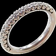 Vintage 14k White Gold .15 ctw Diamond Ring