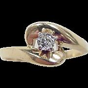 Vintage 14k Gold .17 ctw Diamond Ring