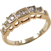 Vintage 14k Gold .18 ctw Diamond Band Ring