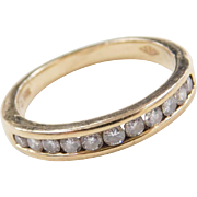 Vintage 14k Gold .22 ctw Diamond Band Ring
