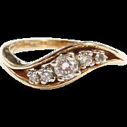 Vintage 14k Gold .22 ctw Diamond Ring