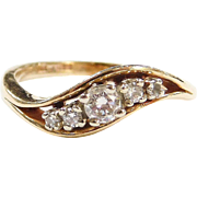 Vintage 14k Gold .22 ctw Diamond Ring