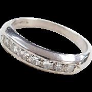 Art Deco Platinum .28 ctw Wedding Band Ring