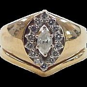 Vintage 14k Gold .48 ctw Diamond Ring
